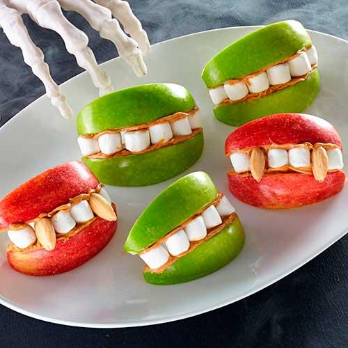 リンゴの口と歯