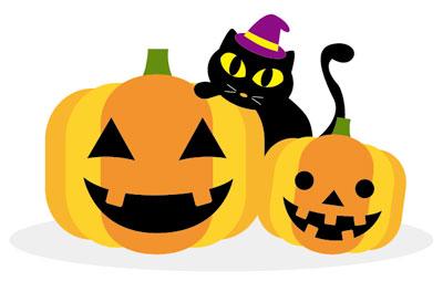 かぼちゃと黒猫