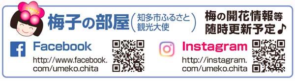梅子の部屋(知多市公認キャラクター)Facebook・インスタグラム