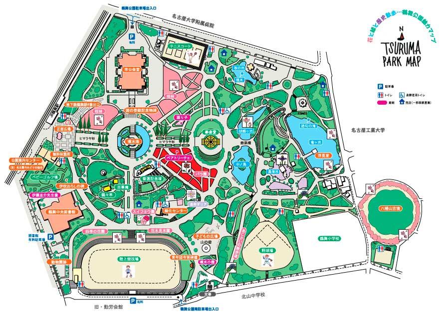 鶴舞公園マップ