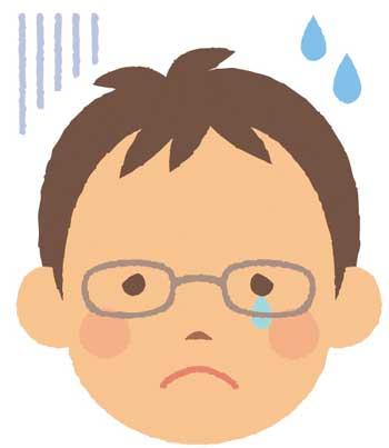 悲しい男性