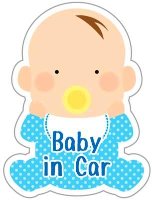 赤ちゃんが乗っています ステッカー