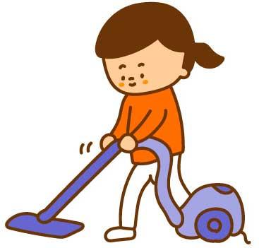 掃除機で掃除