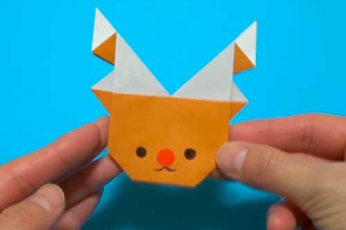 折り紙で作るトナカイ