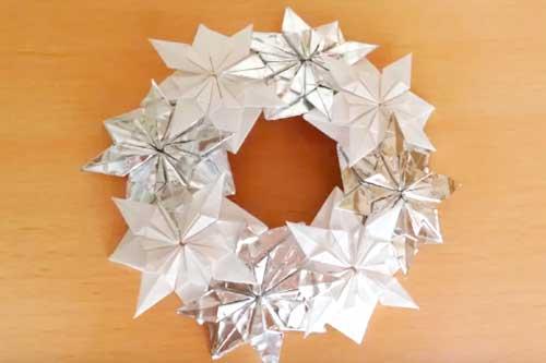 雪の結晶クリスマスリース