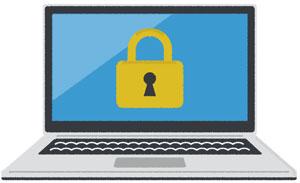セキュリティソフトの入ったコンピュータ