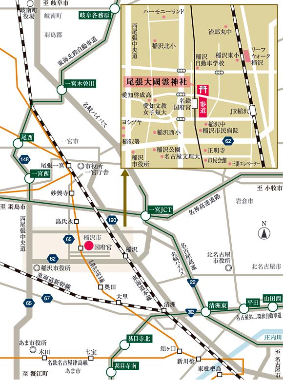 国府宮神社アクセス
