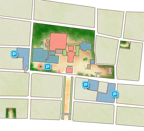国府宮神社 駐車場