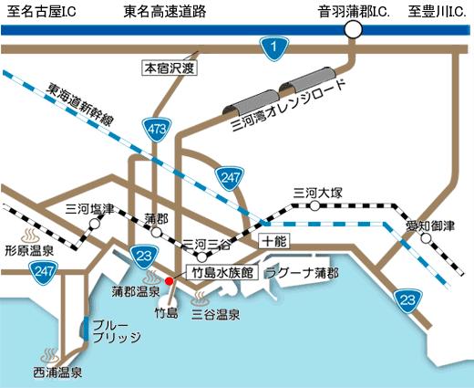 竹島水族館へのアクセス