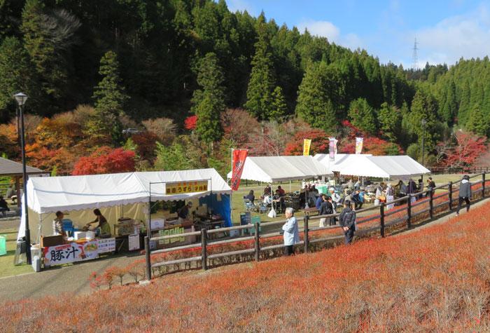 大井平公園もみじまつり 美味しいものいっぱい