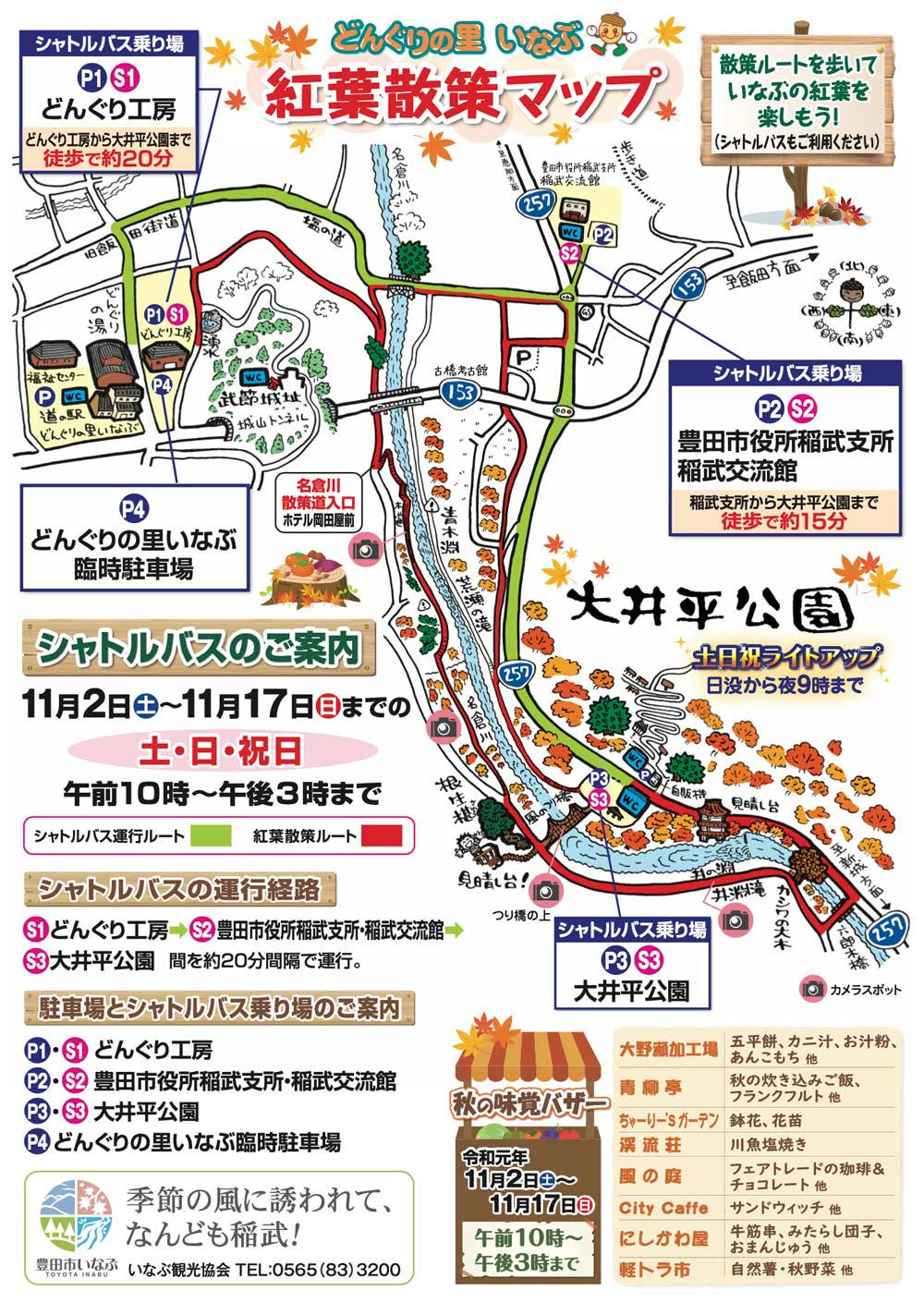 大井平公園もみじまつり マップ