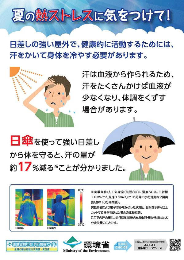 環境省は男性の日傘を推奨中