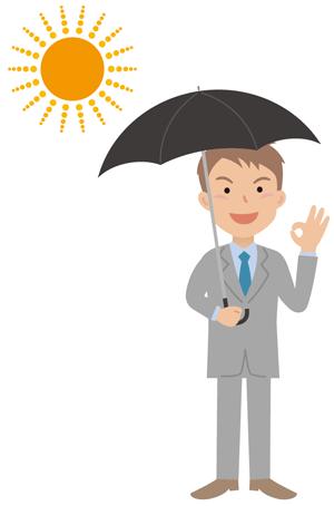 おしゃれ&かっこよく見える男性用日傘の選び方